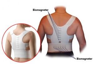 Magnetisk ryg støtte bind med 12 biomagneter