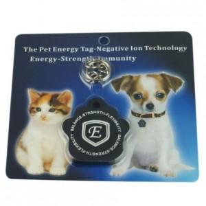 I-Energy kæledyrs tag, fremstillet i Sort silicone, afgiver 2100cc negative ioner